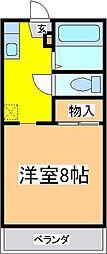 広島県東広島市西条町下見の賃貸アパートの間取り