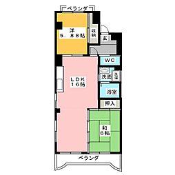 ヴィーブル小田井[3階]の間取り