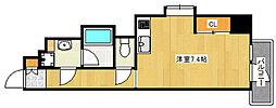阪急神戸本線 王子公園駅 徒歩8分の賃貸マンション 8階ワンルームの間取り