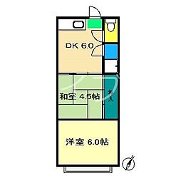 岩崎荘[2階]の間取り