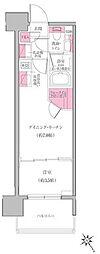 東京メトロ東西線 門前仲町駅 徒歩8分の賃貸マンション 6階1DKの間取り