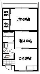 サンライズ柴崎[201号室号室]の間取り