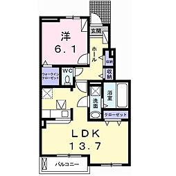 兵庫県伊丹市森本5丁目の賃貸アパートの間取り