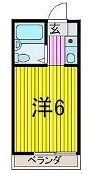 アダチコ−ポ[1階]の間取り