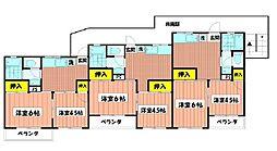 大倉山グリーンハイツ[101号室]の間取り