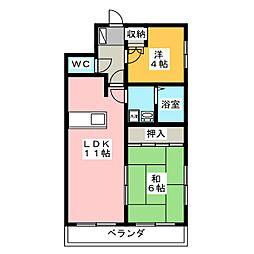 ピエタテール三軒屋[3階]の間取り