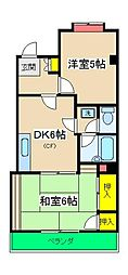 エステート桜ヶ丘[201号室]の間取り