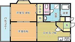 プレジデントタカヤ6 B棟[103号室]の間取り