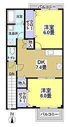 プレミアム21[2階]の間取り