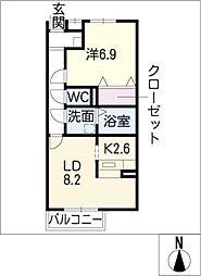 Grand Court N[1階]の間取り