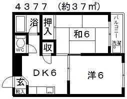 道明寺三栄プラザ[202号室号室]の間取り