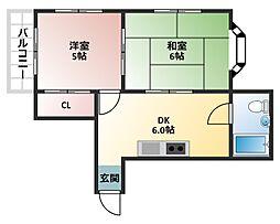 ドムール大倉[2階]の間取り