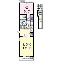 セシル エトワールLI[2階]の間取り