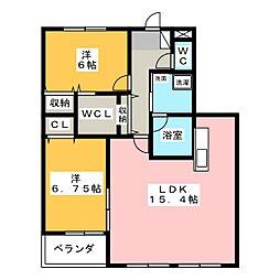 レジデンスALTAII[3階]の間取り