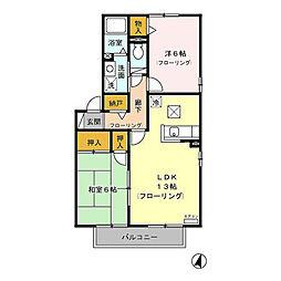 ボナール21 E[2階]の間取り