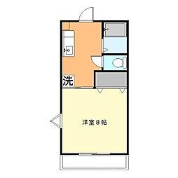 HOUSE LA LUNA[2階]の間取り