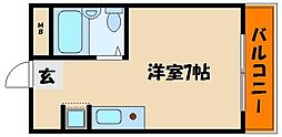 ファミールタツヒチ[1階]の間取り