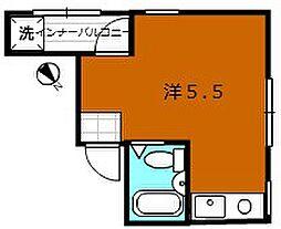 大阪府堺市堺区大浜北町1丁の賃貸マンションの間取り