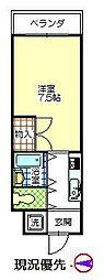 メッセシティ石垣[407号室]の間取り