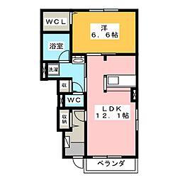 さんこ〜ぽ八代II B[1階]の間取り