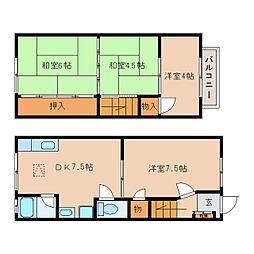 [一戸建] 奈良県大和郡山市南大工町 の賃貸【/】の間取り