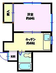 コーポ竜沢[205号室]の間取り