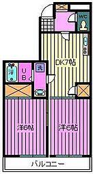 ホワイトキャッスル[4階]の間取り