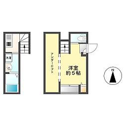 西区新福寺1丁目コーポ[101号室]の間取り
