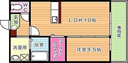 トレス上の原館[1階]の間取り