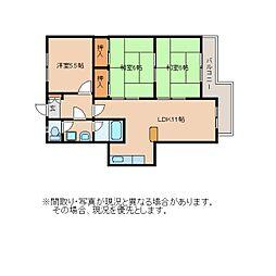 静岡県静岡市葵区平和の賃貸マンションの間取り
