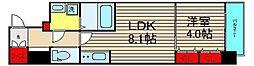 レオンコンフォート難波南[511号室]の間取り