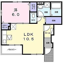 フロールI[1階]の間取り