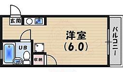 JR東海道・山陽本線 芦屋駅 徒歩11分の賃貸アパート 1階ワンルームの間取り