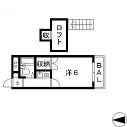 ラパンプラス[511号室号室]の間取り