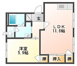オーキッド倉敷II A棟[1階]の間取り