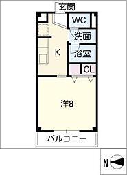 サンボナール A棟[1階]の間取り