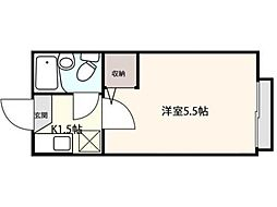 東京都三鷹市井口3丁目の賃貸マンションの間取り