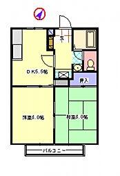 嵐山ハイツII[105号室]の間取り