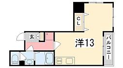 兵庫県姫路市朝日町の賃貸マンションの間取り