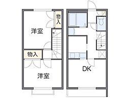 [テラスハウス] 東京都日野市神明4丁目 の賃貸【/】の間取り