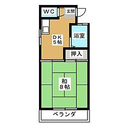 コーポ黒沢台3[2階]の間取り