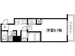 Osaka Metro谷町線 天満橋駅 徒歩7分の賃貸マンション 6階1Kの間取り