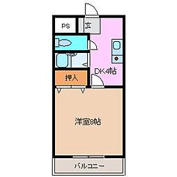 コーポSHOEI[305号室号室]の間取り