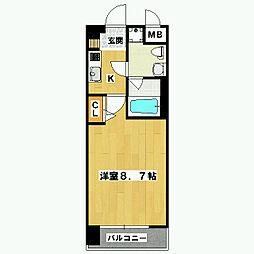 プレサンスNEO京都烏丸[704号室]の間取り