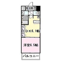 大阪府大東市灰塚4丁目の賃貸マンションの間取り