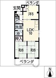 サンシャインマンション[5階]の間取り