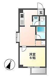 bespoke鶴舞[5階]の間取り