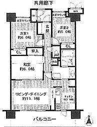 ローレルコート鳳(鳳南小学校区)[2階]の間取り