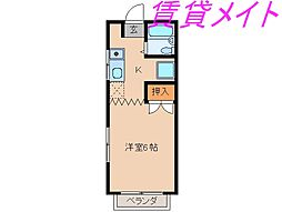 メゾンホープ[1階]の間取り