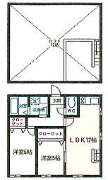神奈川県茅ヶ崎市東海岸北3丁目の賃貸アパートの間取り